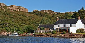 Badachro Inn from the sea