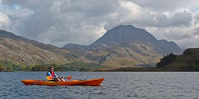 Kayaking on Loch Maree - Slioch beyond