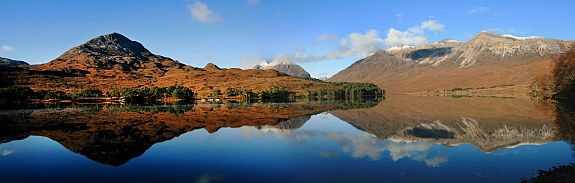 Loch Claire in Glen Torridon with Liathach and Beinn Eighe beyond